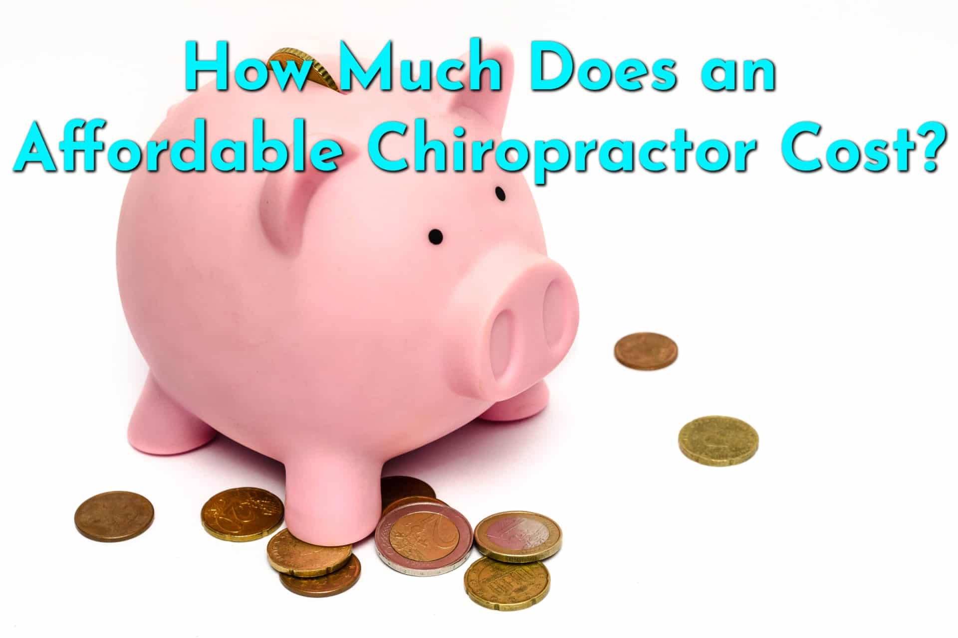 How Affordable is a Chiropractor Really? Image of piggy bank with coins